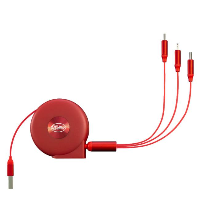 Waltter Roll punainen multilatauskaapeli