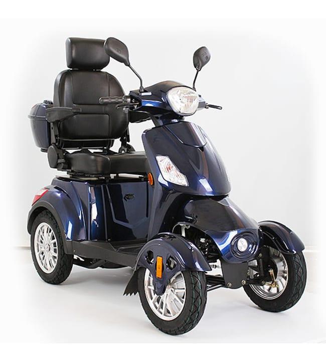 Kontio Motors Silverfox Four sininen senioriskootteri