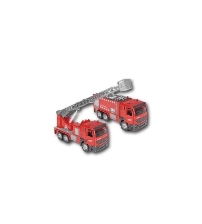Fire Rescue paloauto hälytysäänillä ja valoilla