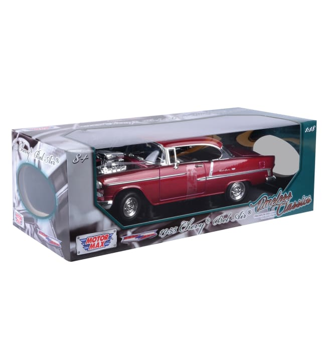 Motor Max 1:18 1955 Chevy Bel Air Coupe pienoismalli
