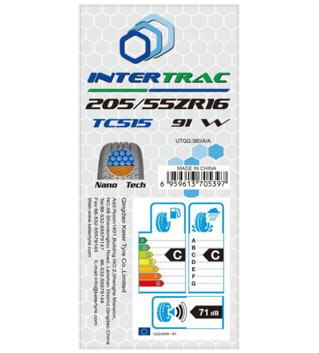 Intertrac TC515 205/60-16 92V kesärengas