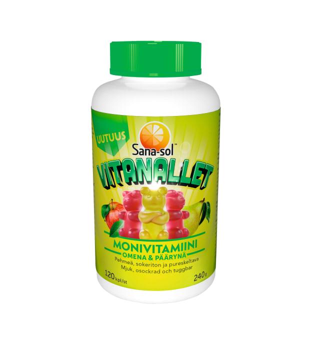 Sana-Sol Vitanallet Omena&Päärynä 120 kpl ravintolisä
