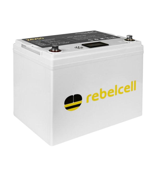 Rebelcell Li-Ion 24V/50A akku jännite/varausnäytöllä