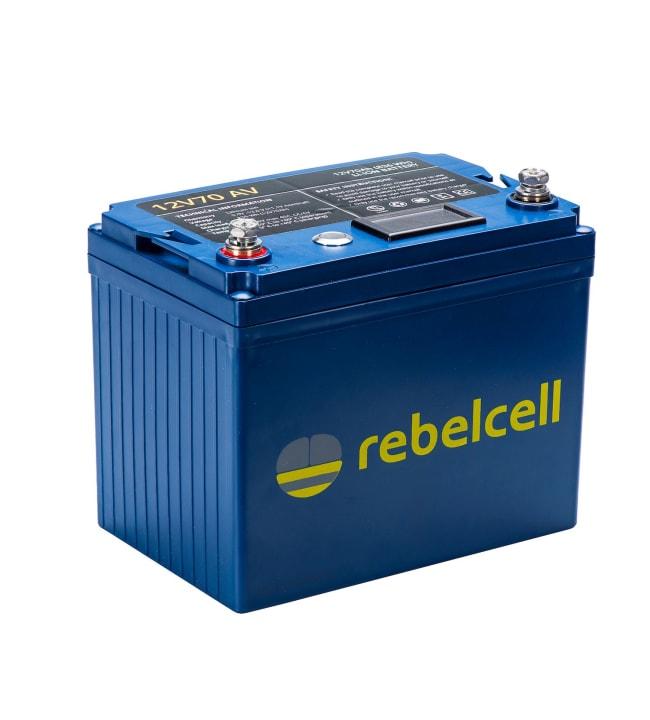 Rebelcell Li-Ion 12V/70A akku jännite/varausnäytöllä