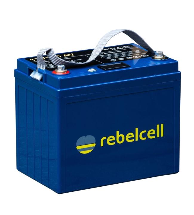 Rebelcell Li-Ion 12V/140A akku jännite/varausnäytöllä