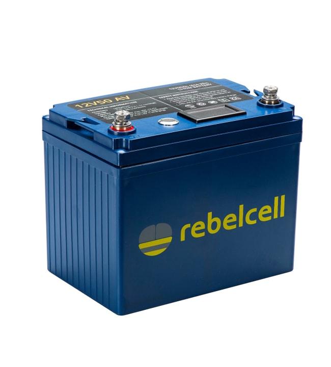 Rebelcell Li-Ion 12V/50A akku jännite/varausnäytöllä