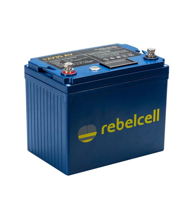 Rebelcell Li-Ion 12V/35A akku jännite/varausnäytöllä