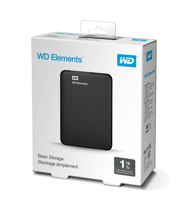 WD Elements Portable USB3.0 1TB ulkoinen kiintolevyasema
