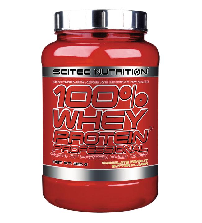 Scitec Nutrition 100% Whey Protein Prof. Chocolate Peanut Butter 920 g heraproteiinijauhe
