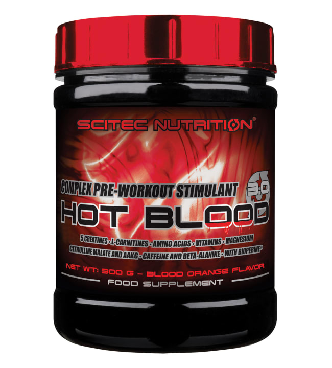 Scitec Nutrition Hot Blood 3.0 Blood Orange 300 g tehonlisääjä