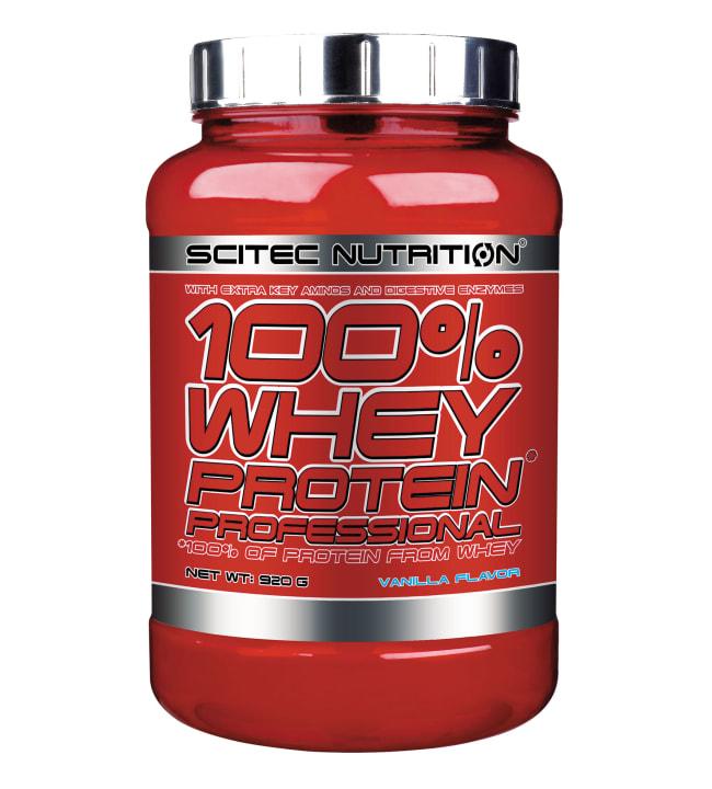 Scitec Nutrition 100% Whey Protein Prof. Vanilla 920 g heraproteiinijauhe