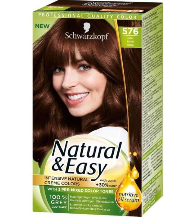 Schwarzkopf Natural&Easy 576 Kastanja hiusväri