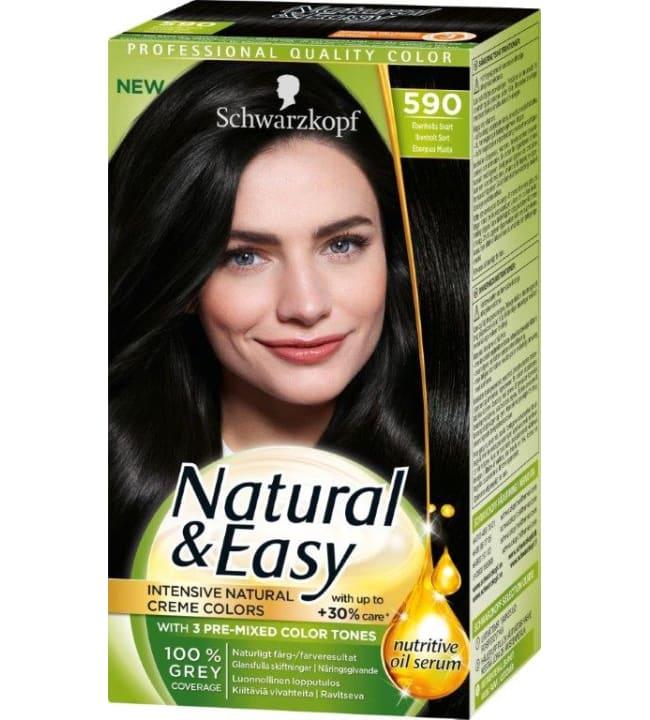 Schwarzkopf Natural&Easy 590 Ebenpuu Musta hiusväri