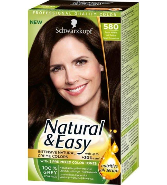 Schwarzkopf Natural&Easy 580 Sametti Tummanruskea hiusväri