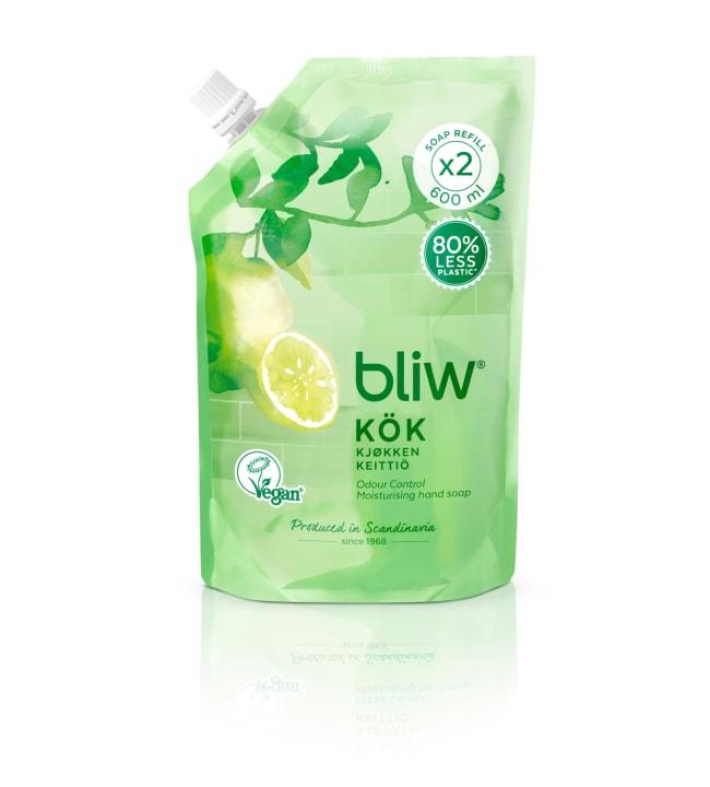 Bliw Keittiö Villitimjami & Lime 600 ml nestesaippua täyttöpussi