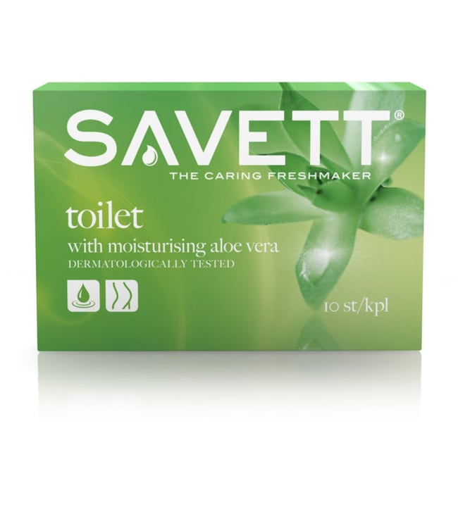 Savett Toilet 10 kpl kosteuspyyhe