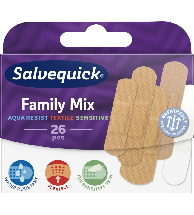 Salvequick Family Mix 26 kpl laastari