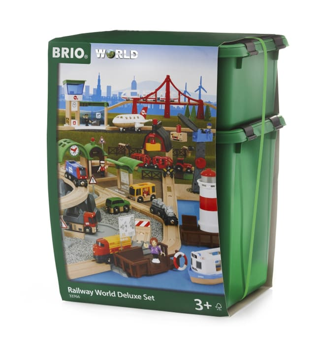 BRIO Railway World Deluxe Set 103-osainen junaratamaailma