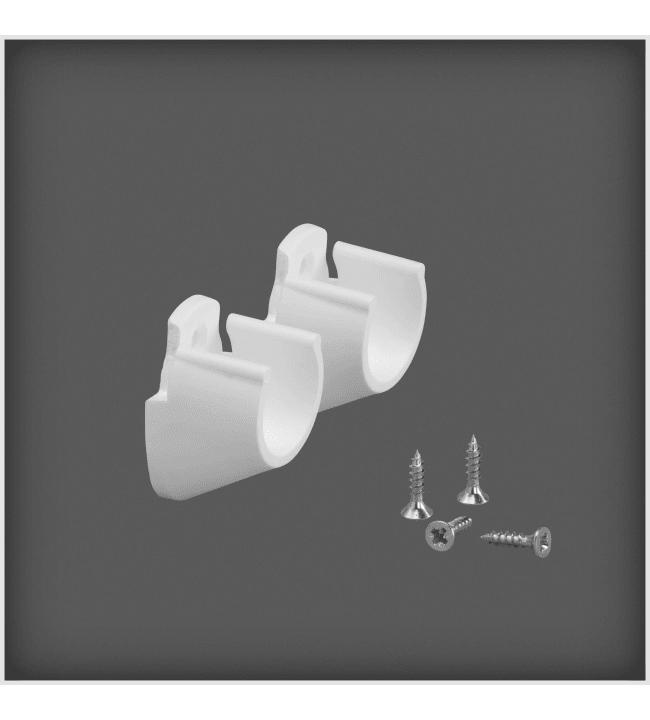 Elfa valkoinen seinä/seinä tankopidin