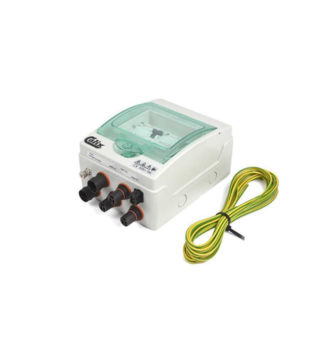 Calix WhisperPower CX 1920038 sähkökeskus 2 tuloa + 3 lähtöä + 1 12V lähtö
