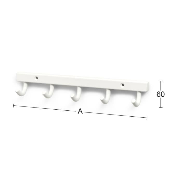 Habo 840-5 valkoinen pyyhenaulakko