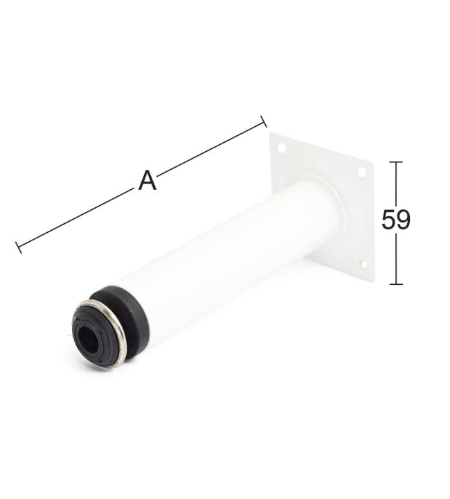 Habo 511 200 mm valkoinen putkijalka