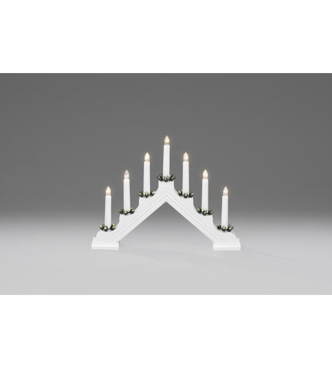 Konstsmide 2310-210 valkoinen kynttelikkö
