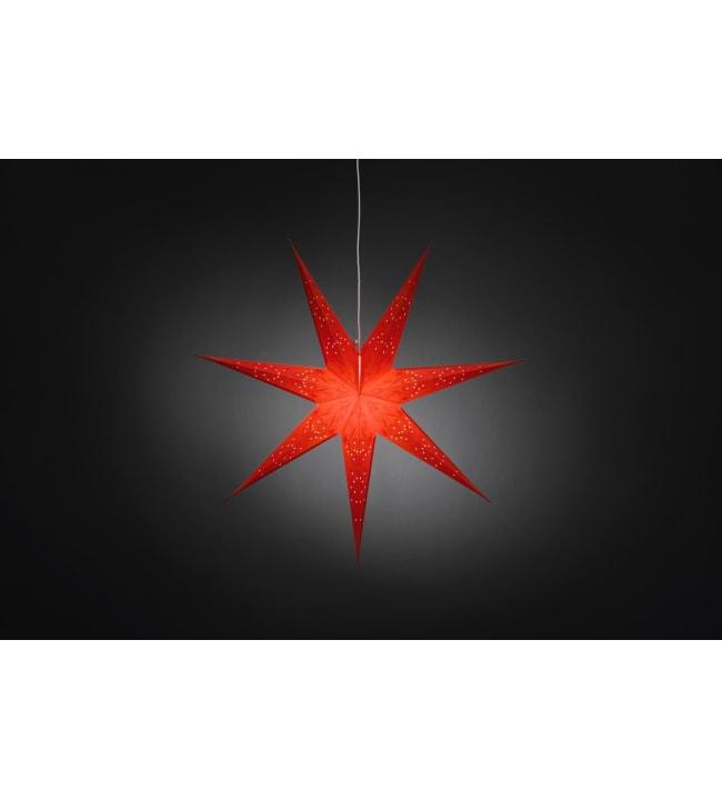Konstsmide 2982-550 78cm punainen paperitähti