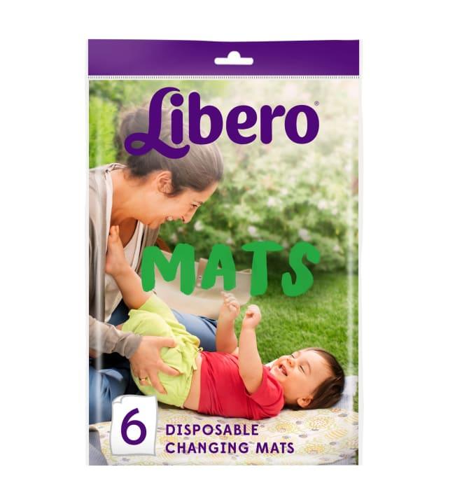 Libero 6 kpl kertakäyttöinen vaipanvaihtoalusta
