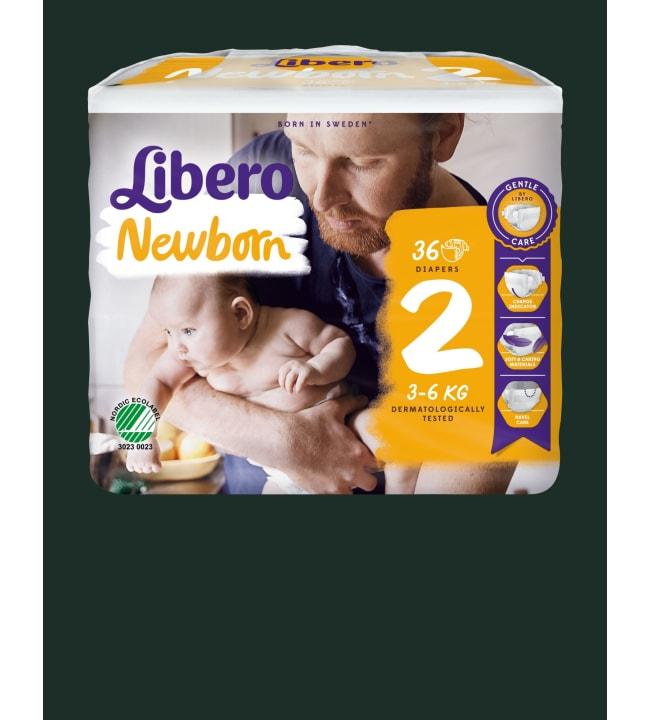 Libero Newborn koko 2, 3-6 kg 36 kpl teippivaippa