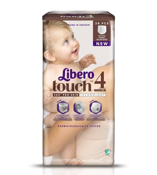 Libero Touch koko 4 38kpl 7-11 kg housuvaippa