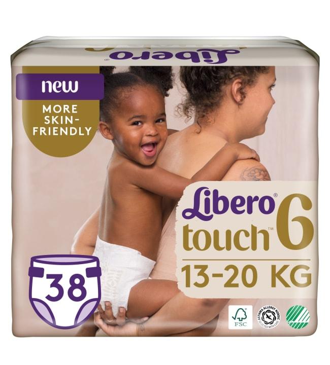 Libero Touch koko 6, 13-20 kg 38 kpl teippivaippa