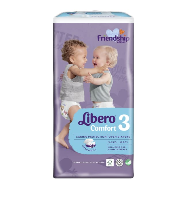 Libero Comfort koko 3, 5-9 kg 60 kpl teippivaippa