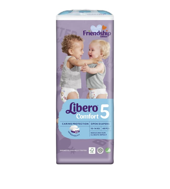 Libero Comfort koko 5, 10-14 kg 48 kpl teippivaippa