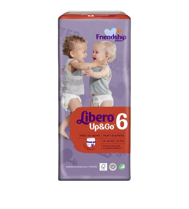 Libero Up&Go koko 6, 13-20 kg 36 kpl housuvaippa