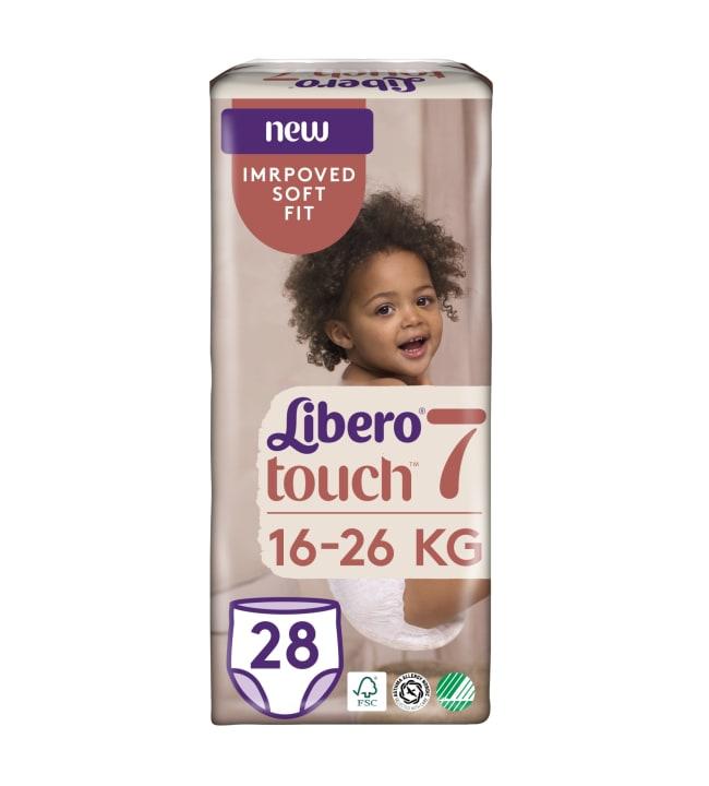 Libero Touch koko 7, 16-26 kg 28 kpl housuvaippa