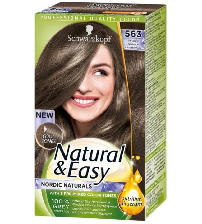 Schwarzkopf Natural&Easy 563 Viileä Vaaleanruskea hiusväri