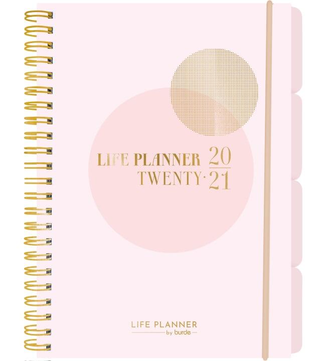 Burde Life Planner Pink 2020-2021 lukuvuosikalenteri