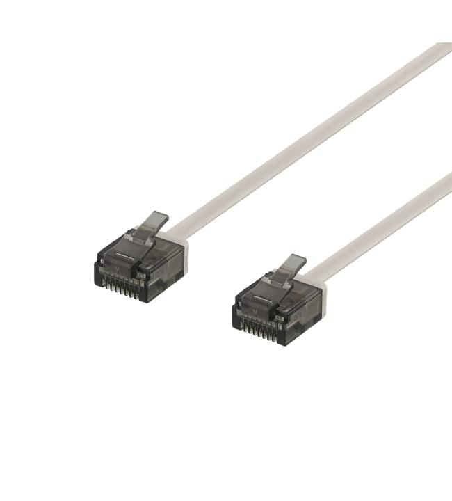 Deltaco U/UTP Cat6a litteä 1mm paksuinen 5,0m RJ45 verkkokaapeli