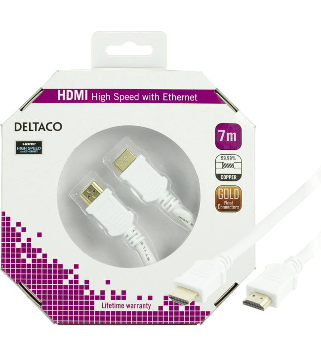 Deltaco HDMI-1060A-K 7m high speed HDMI-kaapeli