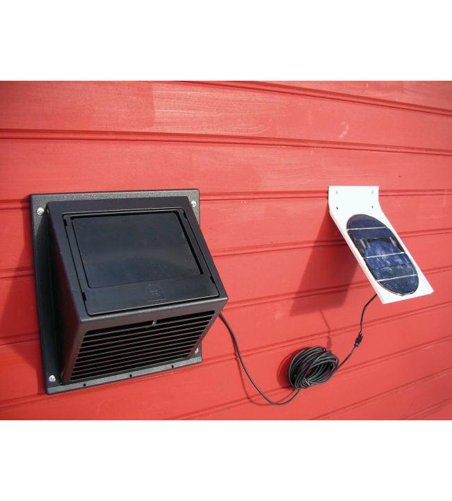 Sunwind Minivent tuuletin erillisellä aurinkopaneelilla