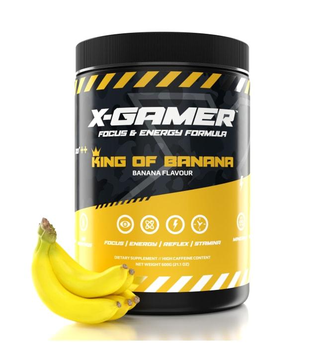 X-GAMER X-Tubz King of Banana 600g energiajuomajauhe