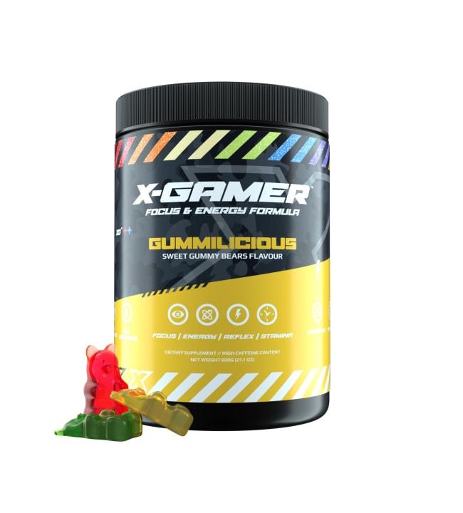 X-GAMER X-Tubz Gummilicious 600g energiajuomajauhe