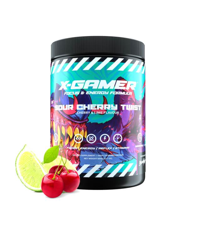 X-GAMER X-Tubz Sour Cherry Twist 600g energiajuomajauhe