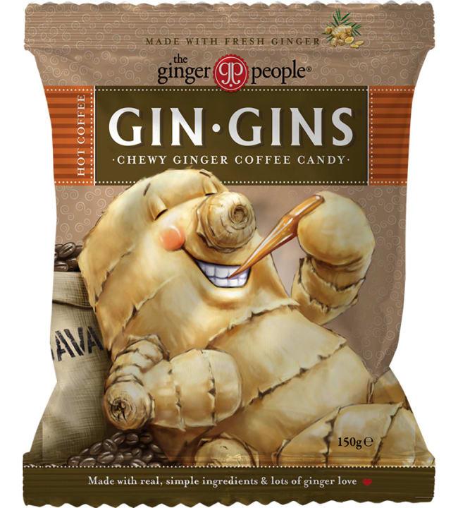 Gin Gins Hot Coffee 150 g inkiväärimakeinen