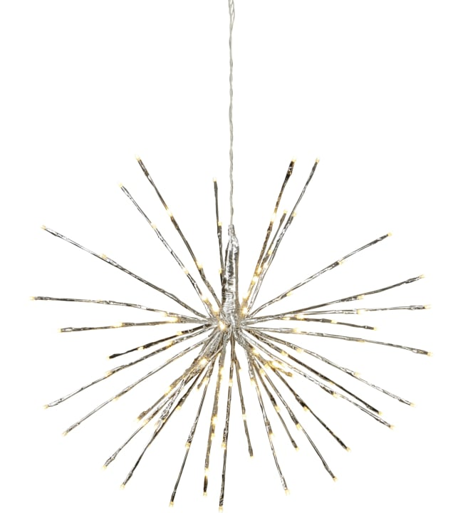 Star Hanging Decoration Firework hopea led valokoriste