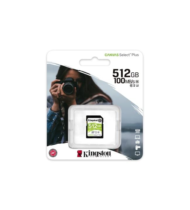 Kingston Canvas Select Plus 512GB SDXC muistikortti