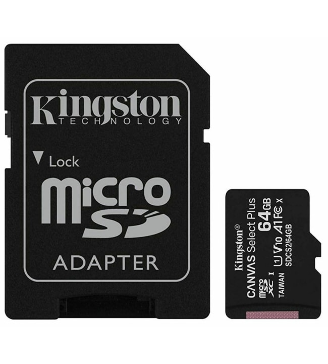 Kingston Canvas Select Plus 64GB MicroSDXC muistikortti