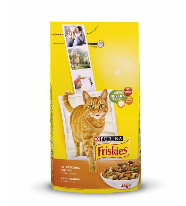 Friskies 4 kg adult kanaa ja lisättyjä vihanneksia kissanruoka
