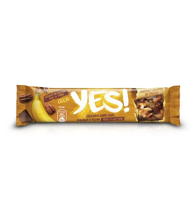 YES! Banana Pecan & Dark Chocolate Nut Bar 35 g pähkinäpatukka